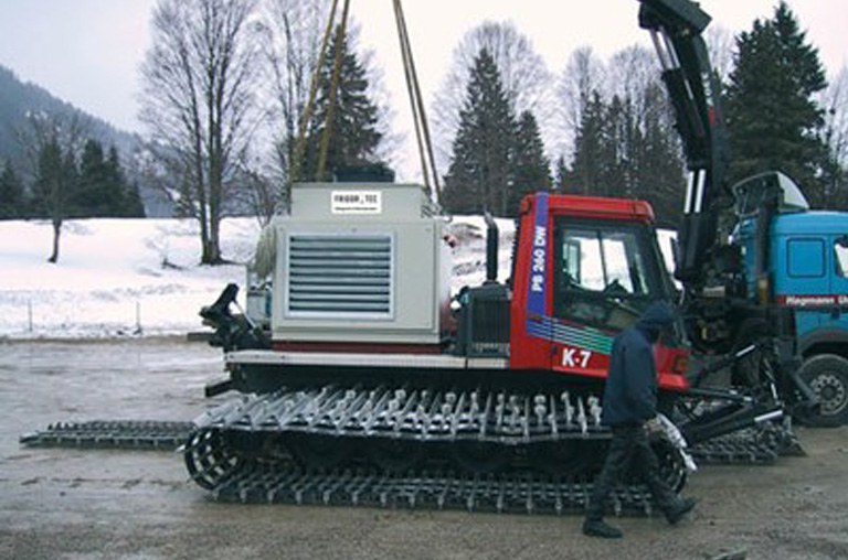 Snow cooling units